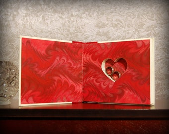 Hollow Book Safe with Heart (P.S. I Love You)
