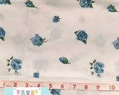 Vintage Pillowcase with Large Blue Shabby Floral