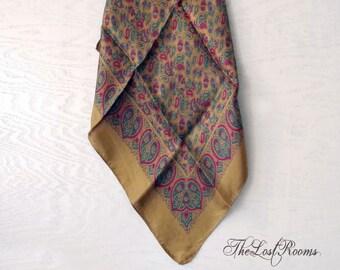 Mens Silk Pocket Square Handkerchief Classic Paisley Made in England