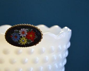 Vintage Italian Micromosaic Brooch