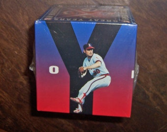 Nolan Ryan 1993 Fotoball Baseball, Mint Condition, Unopened Original Packaging, Twenty Seven Great Years in Baseball CHEVRON