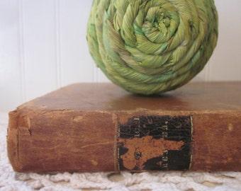Antique 1841 book, The Rhetorical Reader by Ebenezer Porter, D.D. Vintage rustic prop. eclectic objet d'art. Distressed to perfection.