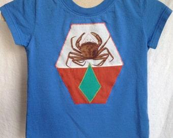 6-12month *ORGANIC* Cotton Crab Short Sleeve Baby Shirt