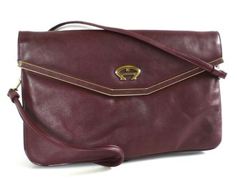 Vintage Oxblood Leather Etienne Aigner Handmade Purse