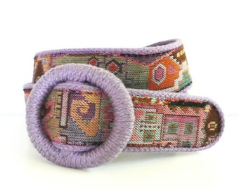 Vintage Accessories by Pearl Carpetbag Belt // Size Large