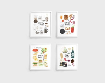 Entertain Prints - Set of 4 (8 x 10)