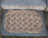 Nautical Manila Rope Door Mat Rug