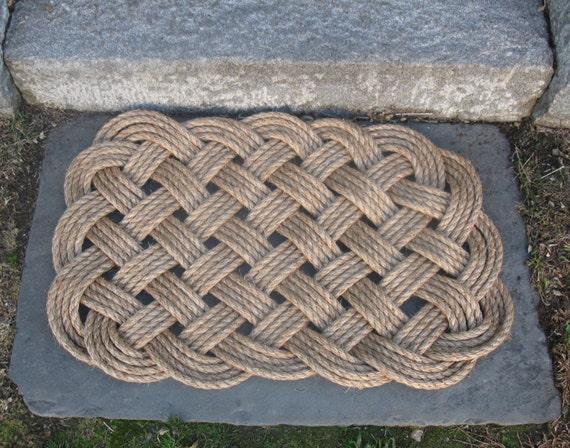 nautical manila rope door mat rug