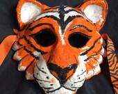 Tiger paper mache mask