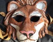 Lion paper mache mask