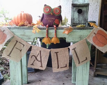 Fall banner with pumkins