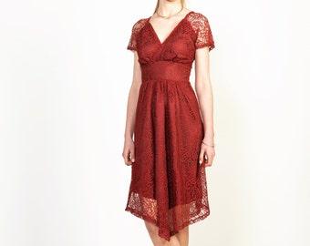 Lace Bordeaux Dress