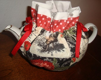 Rooster and Flowers Tea Pot Cozy