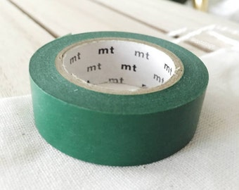 Solid Peacock green Washi Tape Japanese Peacock green masking tape (204) - PrettyTape