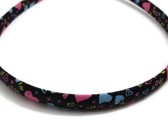 Graffiti Hearts Headband -Handmade To Order