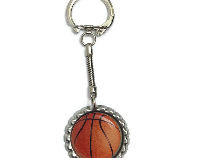 Basketball Keychain, Keyring, Zipper Pull, Purse Charm, Wallet Charm - Handmade To Order