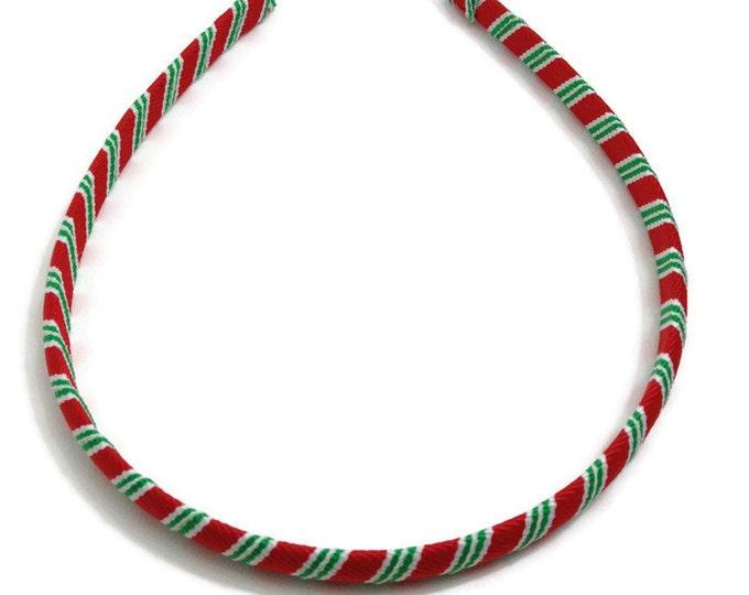 Christmas Stripes Headband - Handmade To Order