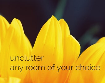 Unclutter any room of your choice - virtual decluttering coach