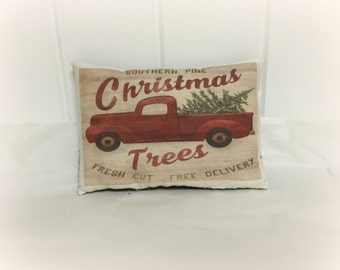 Christmas Pillow - Vintage Truck