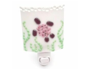 Night Light - Sea Turtle White with Violet & Pink, Nursery Decoration