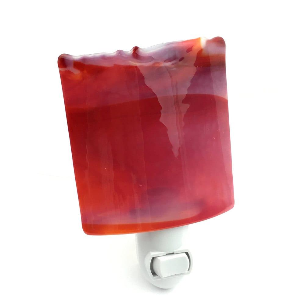 Decorative Wall Plug In Nightlights : Night Light Decorative Red Stained Glass Wall Plug-in