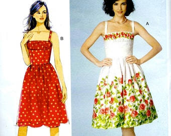 UNCUT Butterick Pattern No. BP273 : Dress with Shoulder Straps and Fitted Bodice , Full Skirt -  Bust - 30 - 34