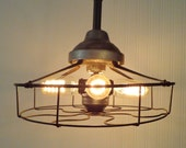R&M. INDUSTRIAL Vintage LIGHT Shown with Edison Filament Bulbs