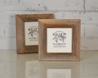 "5x5 Picture Frame in 1.5"" Wide Rustic Natural Reclaimed Cedar - Upcycled 5 x 5 Reclaimed Wood Photo Frame - 5x5 Square Frames"