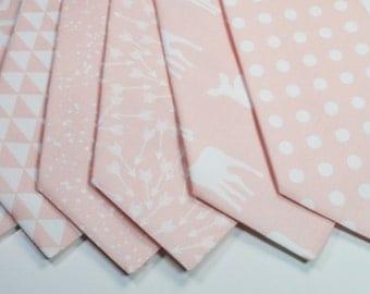 Blush Ties Blush Neckties Mens Blush Ties Light Pink Ties Blush Linen Ties Dusty Rose Neckties Wedding Neckties Weddings Light Pink Neckties