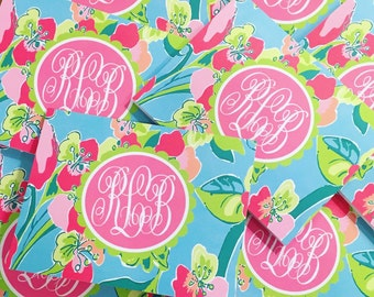 Monogram Lilly Folded Notecards