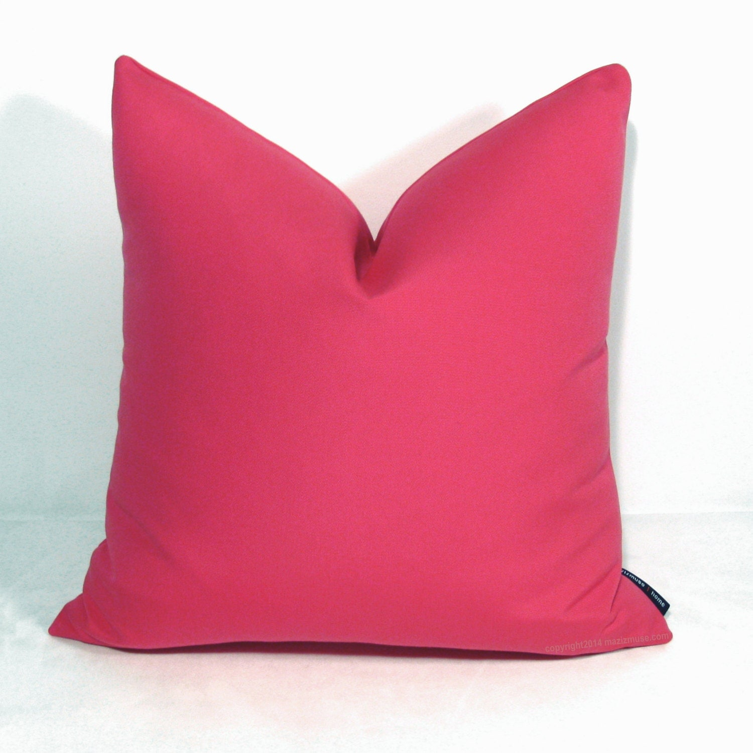 hot pink outdoor pillow cover decorative throw pillow case. Black Bedroom Furniture Sets. Home Design Ideas