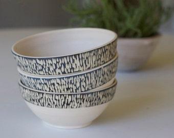 Hand Carved Ceramic Bowls