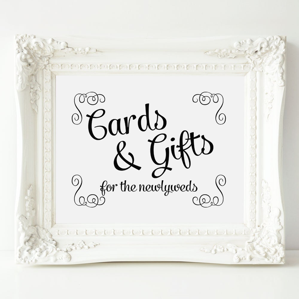 Wedding Gift Card Table : Wedding Gift Table Sign Printable Cards and Gifts Sign