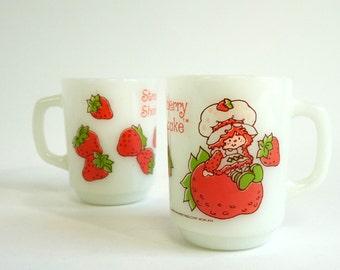 Vintage 1980s Anchor Hocking Strawberry Shortcake Mug NOS / Sold Individually