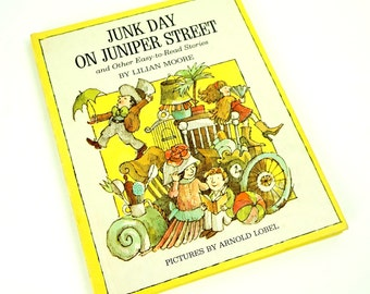 Junk Day on Juniper Street and Other Easy-to-Read Stories by Lillian Moore 1969 VGC Hc / Vintage Childrens Book