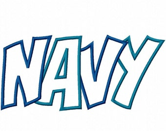 Navy 2 Color Embroidery Machine Applique Design 4403 INSTANT DOWNLOAD