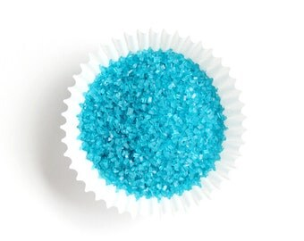Teal Crystal Sugar, Teal Sparkling Sugar, Teal Crystal Sanding Sugar, Aqua Cupcake Sugar (4 ounces)