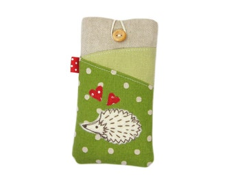 iPhone 6S Case, iPhone 6S Cover, iPod 6G, iPhone 7 Plus Case, Green Hedgehog, iPhone SE, iPhone 7 Case, iPhone 6S Plus, iPhone 7 Pouch