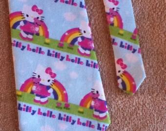 Handmade Adult Sized Hello Kitty Tie