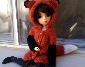 Pre-order, Fox cardigan for YOSD Littlefee or SLIM YOSD