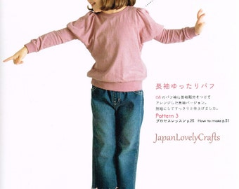 Kids Dress of Overlock Sewing Machine, Japanese Sewing Pattern Book, Children Clothing, Easy Sewing Tutorial, Shirt, One Piece, Pants, B1775