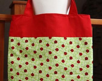 SALE - Ready to Ship - Market Tote Bag Toy Story inspiredLadybug Handmade 16 X 16