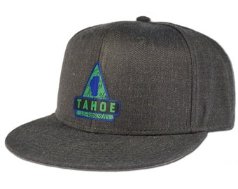 Lake Tahoe Triangle Snapback Hat - Heather Black