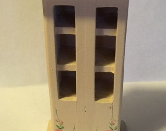 Vintage Miniature Doll House Furniture China Hutch
