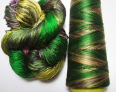 100% Pure Reeled Mulberry Silk Dupion Yarn 50 gram Butterfly Wings RS002 Lot I - Cone or Hank