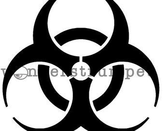 Halloween Stencil Series - Biohazard