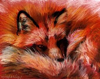Refuge Fox by Michaeline McDonald - fox art, fox print, red fox painting, red fox, wildlife art, fox gifts,