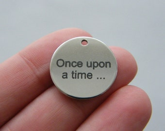 1 Once upon a time ...charm 20mm  stainless steel TAG9-2
