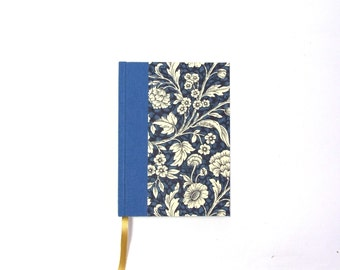 small blue Day Planner 2016, floral Daily Planner, A6 Calendar Book
