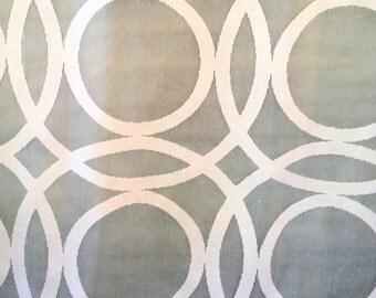 Ivory interlocking CIRCLE pattern printed SHEER drapery fabric 31-66-01-1012